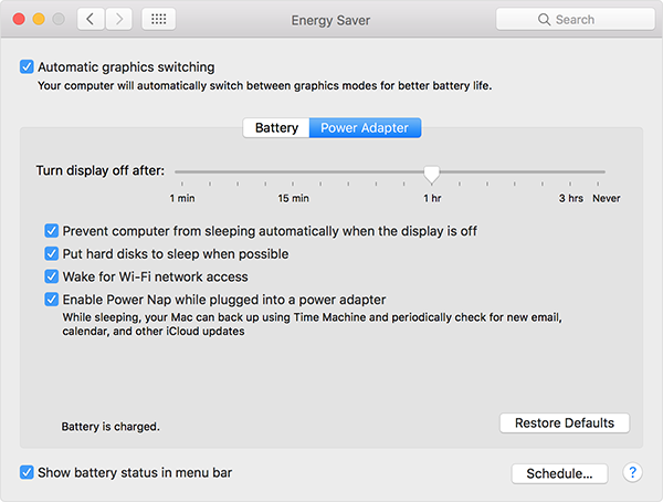 energy-saver macbook