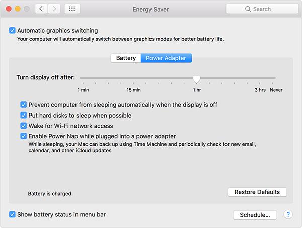 energy-saver macbook